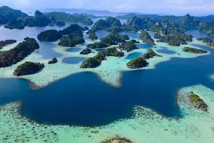 Breathtaking landscape Waigeo Papua