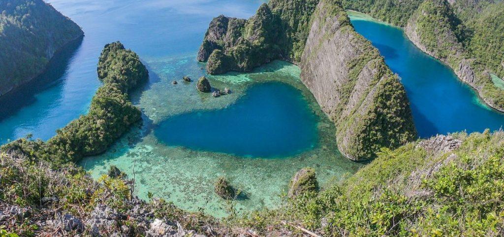 Misool Raja Ampat Papua Aerial View