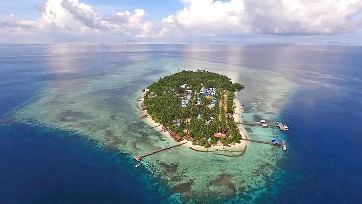 Aerial View Arborek Island | Hello Papua
