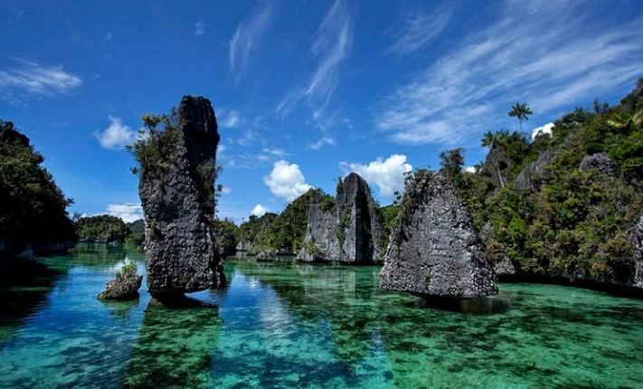 Rock Islets Misool Papua