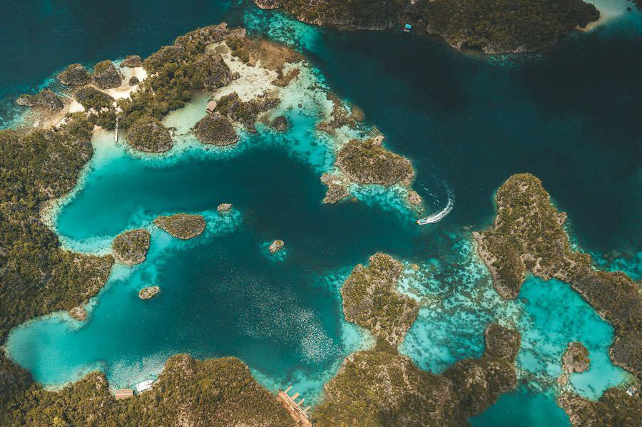 Aerial Landscape Piaynemo Island Papua